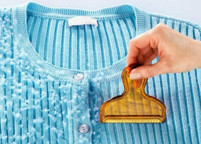 Удаление катышков с одежды