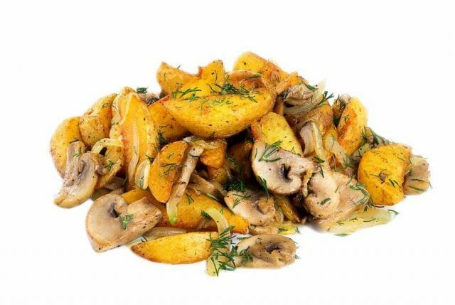 Жаркое с грибами по-деревенски