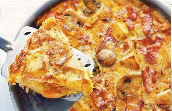 Картофельный омлет: пошаговый рецепт с фото
