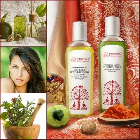 Травяное масло для волос