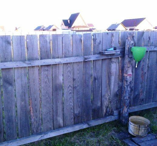 Старый забор, его новая жизнь