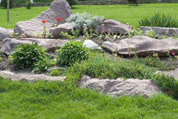Как сделать каменный садик