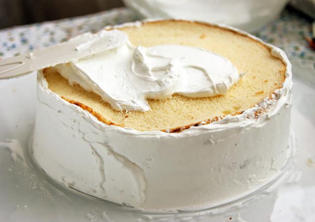 """Самый вкусный бисквитный торт - """"Земляника со сливками"""""""
