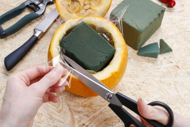 Ваза из тыквы своими руками – пошаговый мастер-класс с фото