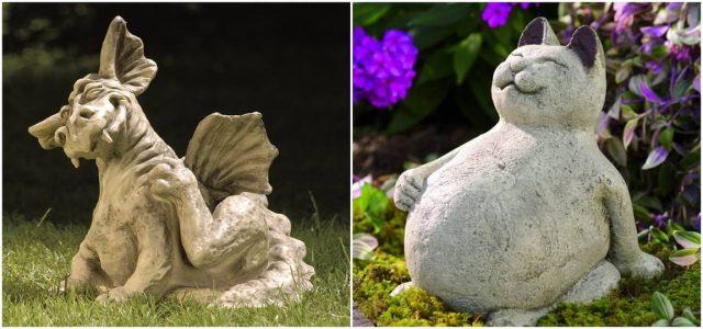 Как самостоятельно изготовить садовые скульптуры из бетона